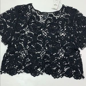 Express cropped embroidered top